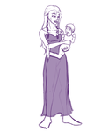 KH Sketch: Momma's Princess by Whyte-Tyger
