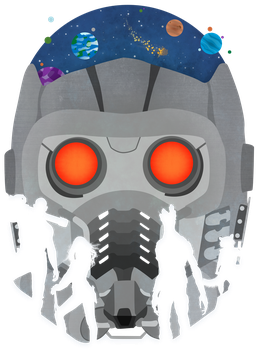 Guardians of the Galaxy Helmet Silhouettes Vector by firedragonmatty