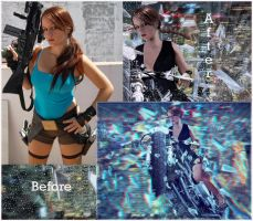 Before and After Lara of Legend Tomb Raider Game by rsiphotography