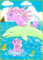 Sea Pony Coloring Page by noelle23