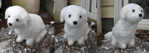 Puppy made of snow! by Inkshadow