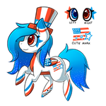 4th Of July Pony by WandaAdopts by TyhponRevolver