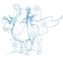 Disney's Frozen - Anna and Sven by KingOlie