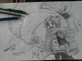natsu dragneel and happy by gipsydanger77