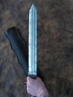 DE Gladius in hand by GageCustomKnives