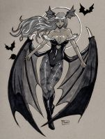 SOLD OUT: Morrigan Original Art by Shono