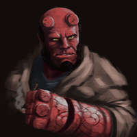 Hellboy by iKEETart