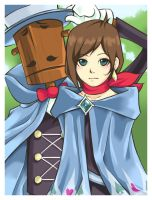 GS4: Trucy Wright + Mr. Hat by gunjoh