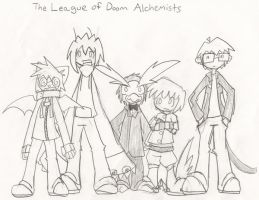The League of Doom Alchemists by treetune