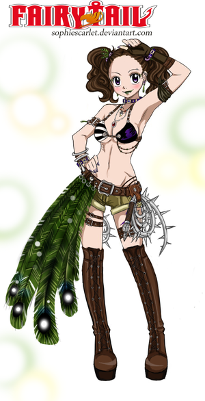 FT oc Lilabelle Lacrimosa-new outfit Peacock Queen by SophieScarlet