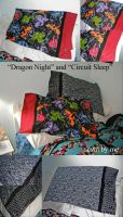 Dragon Night and Circuit Sleep Pillowcases by ShellMinded