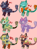 More collab adopts with stankycat 1 LEFT by Pikagalli
