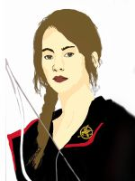 Katniss Everdeen by bAs-fiction
