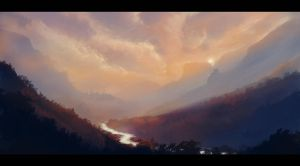 Mountains by Cluly