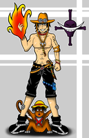 One Piece Ace by Flash-of-Lingt
