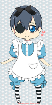 Chibi Ciel in wonderland by Katmewmew
