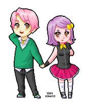 Sion and Regi Pixel by yesi-chan