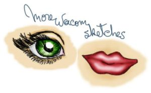 Eye and lips by punksafetypin