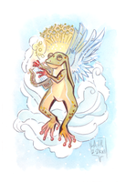 Commission: Angelic Frog by DivaLea