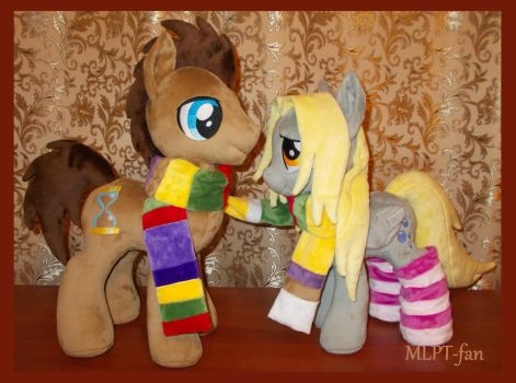 Dr Whooves and Derpy Hooves by calusariAC