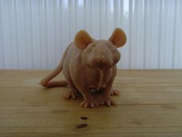 Rat Sculpture no2 WIP by philosophyfox