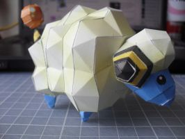 Papercraft - Mareep 01 by ckry