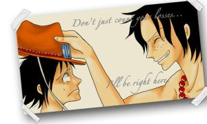 Ace and Luffy by 9t-bobbie