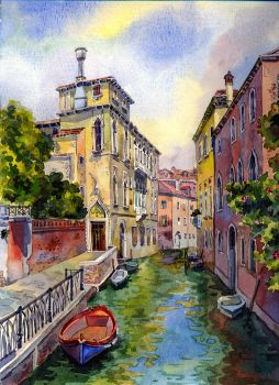 Venice canal (Updated) by MilaKat