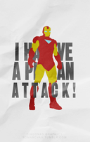 Attack! :: MINIMALIST POSTER by Diagonas