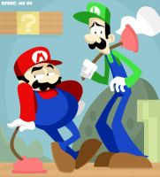 Mario and Luigi Brothers by yooki42