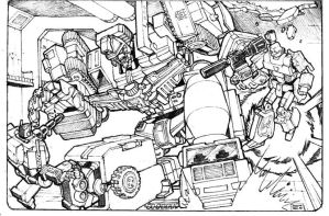Optimus vs Meggy Devastator by Whelljeck
