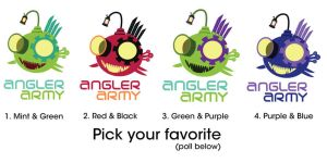 Angler Tees color options by SnaiLords