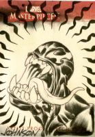 UpperDeck sketch card Venom by Devilpig