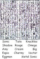 Sonic Heroes Word Search by YoshiOG1