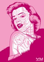Marilyn Monroe - Marilynatrix by ym-graphix