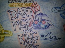 Angry Birds Star Wars:Darth Piger[King Pig] by MeganLovesAngryBirds