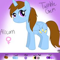 Twinkle Gem Reference - 2012 by TheShadowArtist100