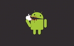 Android Eating Apple 1280x800 by CRuS23
