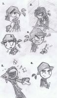 Clyde, sketches by Abn0rma1