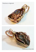 Explosion - Multi-Wire Wrapped Ammonite Pendant by Drakarus