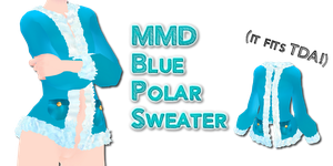 MMD Blue Polar Sweater by Tehrainbowllama