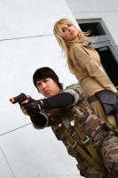 MGS3 - Snake and Eva (AM2 2012) by BrianFloresPhoto