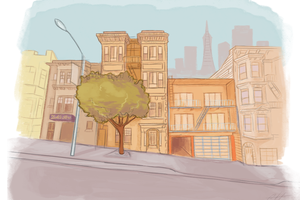 San Francisco by LlamaTHEDragon
