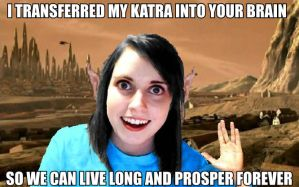 Overly Attached Vulcan by BoscoBurns