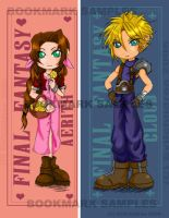 CloudxAerith Bookmarks by Evilchildren