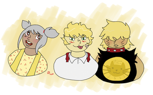 Yellow Theme OCs by SquishyPies