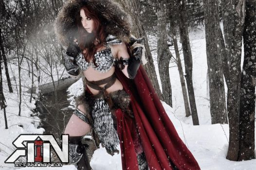 Red Sonja Dynamite Comics June Cover Cosplayer by Its-Raining-Neon