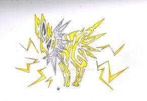 Jolteon Tribal by Skrayle