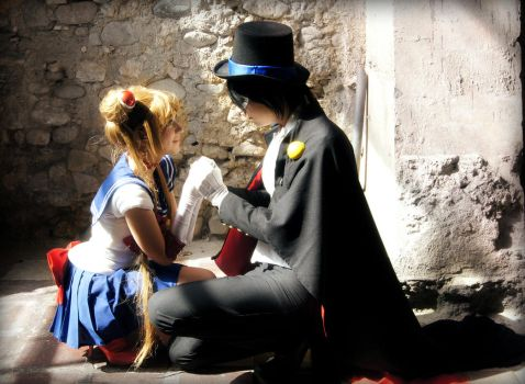 Sailor Moon and Tuxedo Mask cosplay - Destiny by SailorMappy