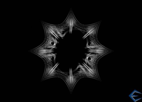 Black Hole Snowflake by eriklectric